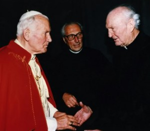 Pope John Paul II and Fr. Frank Parrish