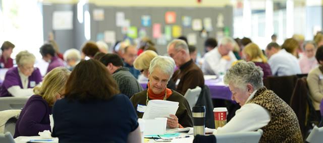 Parishioners on Retreat